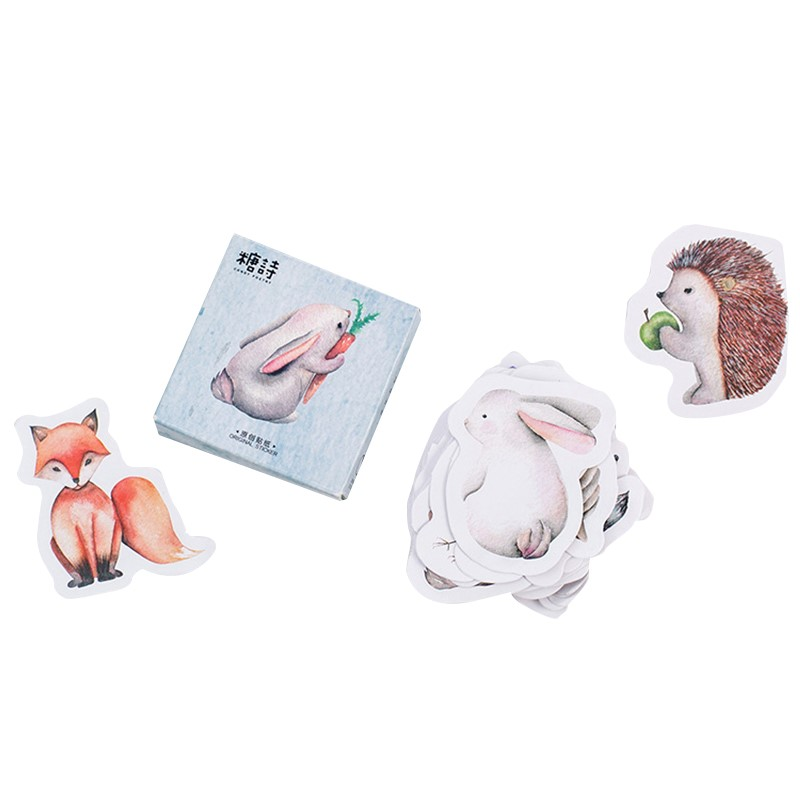 45pcs/lot Cute Forest Animals Decoration Adhesive Stickers Diy Cartoon Stickers Diary Sticker Scrapbook Stationery Stickers diary life cartoon food decorative stickers adhesive stickers scrapbooking diy decoration diary stickers