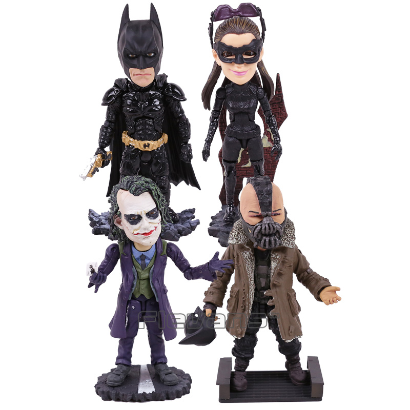 TOYS ROCKA! The Dark Night Rises Batman Bane Joker Catwoman PVC Action Figure Collectible Model Toy (eyes can move) shfiguarts batman the joker injustice ver pvc action figure collectible model toy 15cm boxed