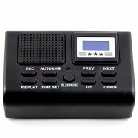 2017 High Quality Telephone Telephone Logger Telephone Voice Monitor Blue LCD Display With Clock Function Digital