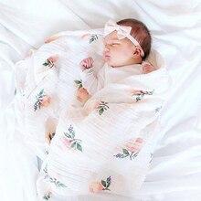 INS Hot Baby Blanket NewbornSwaddle 120x120cm Super Soft Breathable Multi-Use Muslin Cotton Wrap Lemon Cactus Baby Blankets