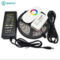 5M 10M 15M 20M+RF LED Light DC 12V SMD5050 RGB LED Strip Waterproof With Touch Remote Controller Power Adapter