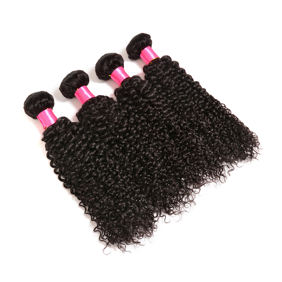 BOL Afro Kinky Curly Hair 3 Bundles Peruvian Hair Weave 100% Remy Human Hair Extensions Natural Color Hair Double Weft