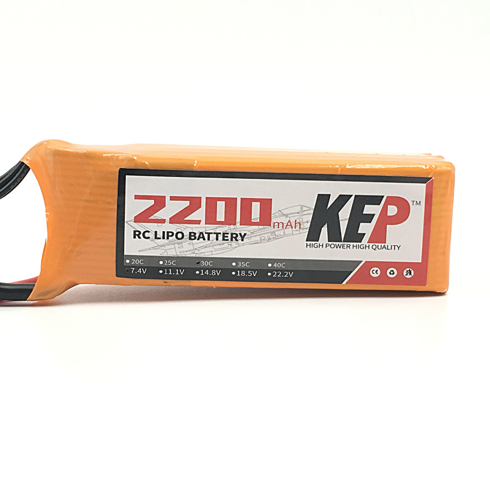 KEP RC Lipo Battery 2S 7.4v 2200mAh 25C For RC Aircraft Helicopter Car Boat Drones Quadcopter Li-Polymer Batteria 2S