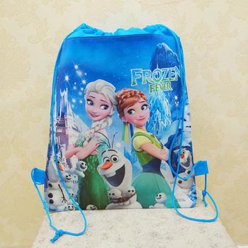 Disney Princess Children Cartoon Bag Storage Girl Boy Gift Packet Frozen Elsa Swimming Package Cosmetic Toy Doll Drawstring