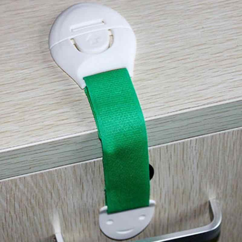 1 PC Keselamatan Keamanan Kunci Plastik Bayi Bayi Anak Produk untuk Mengunci Laci Kabinet Kulkas Pintu Toilet untuk Anak Perlindungan