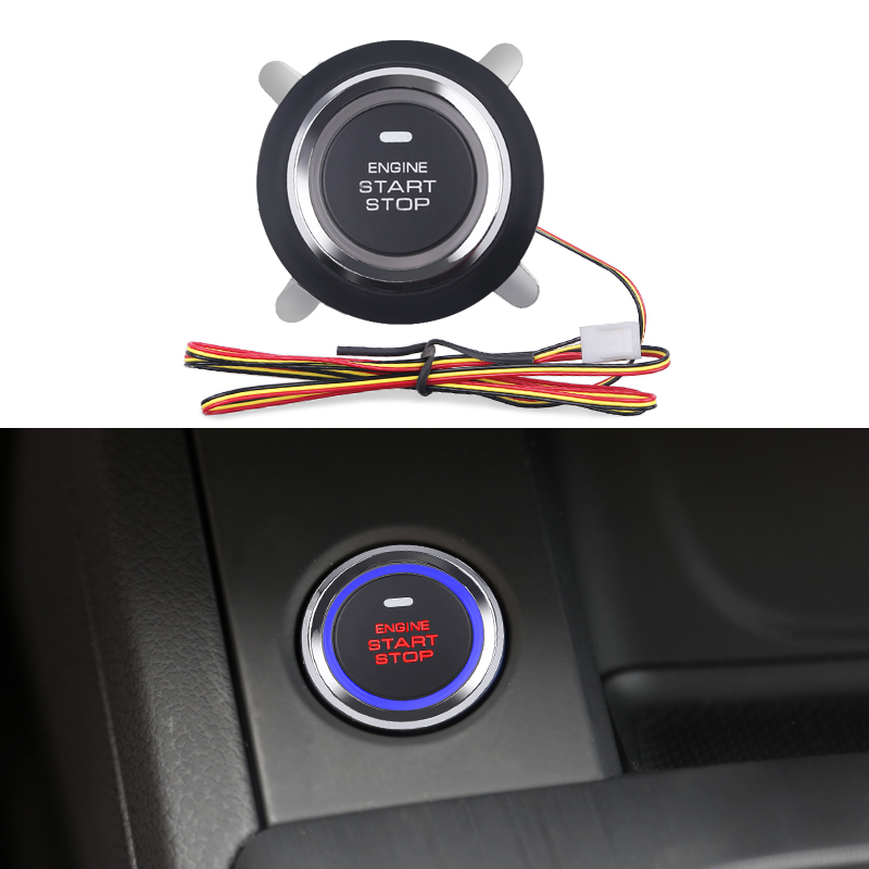 12V Car Engine Push Start Stop Button Ignition Starter Engine Starter Switch Keyless Entry Push Start System