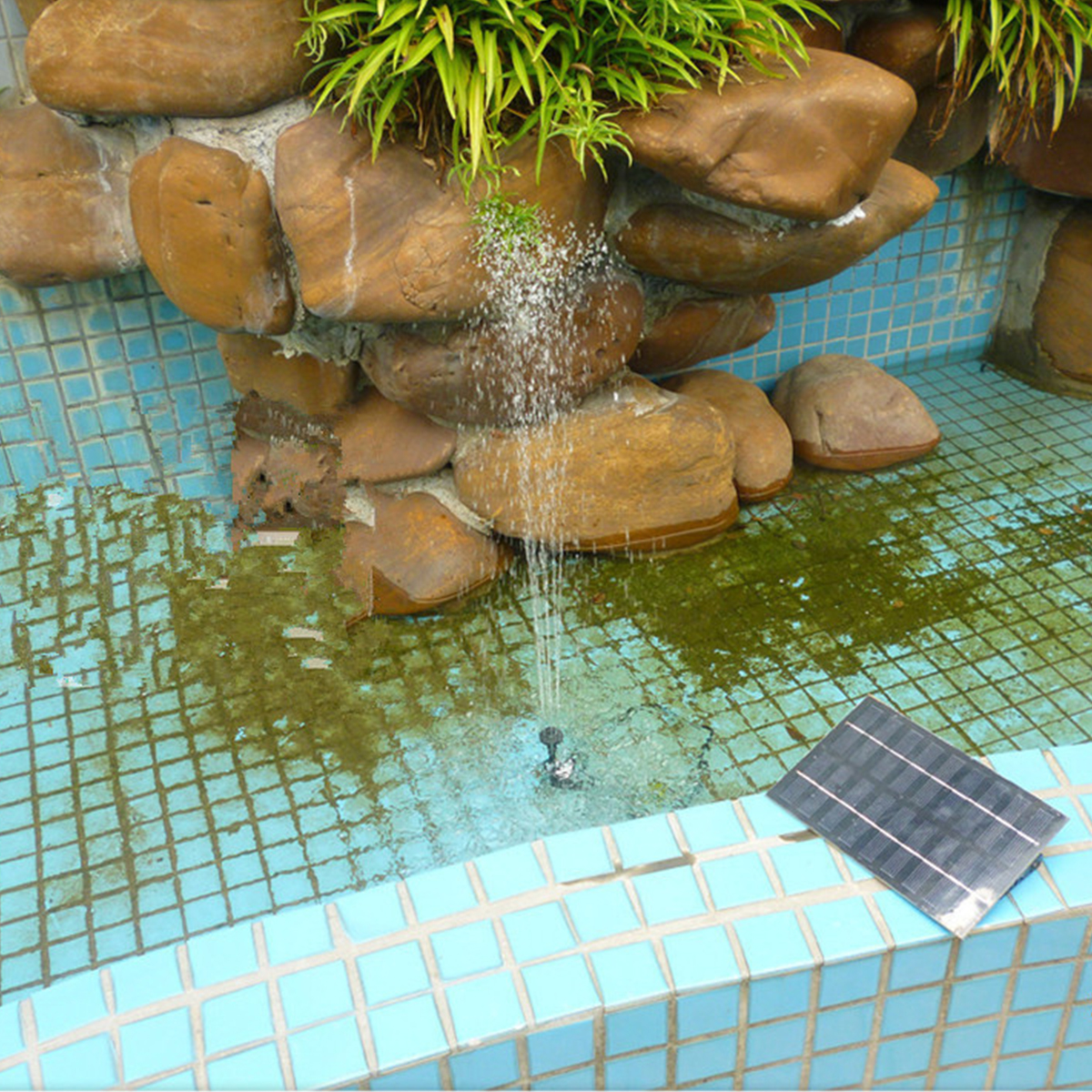 все цены на Waterproof Solar Water Pump 200L/H Solar Panel Power Fountains Water Pumps Garden Pool Pond Rockery Fountain Watering System онлайн