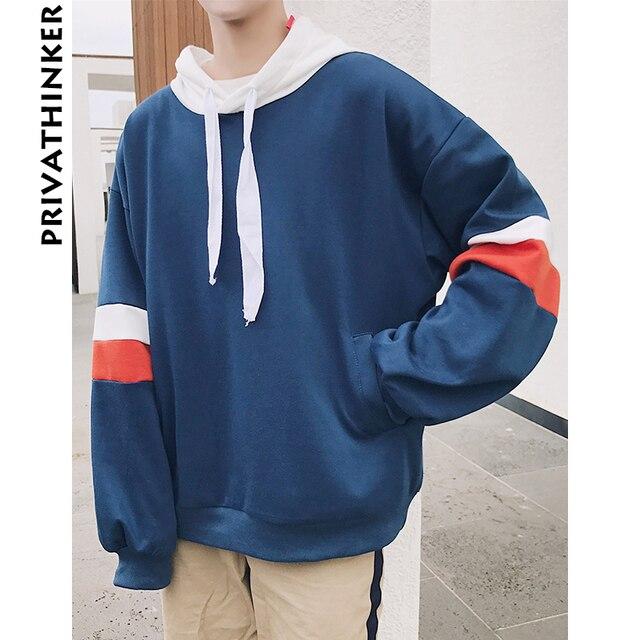 Privathinker 2018 Spring Mens Oversized Hoodie Sweatshirt Korean Baggy  Hoodies Fashion Male Pullover Harajuku Sweatshirts Coat d45c7e0bae37