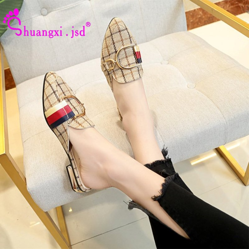 Shuangxi.jsd 2019 Summer time New Ladies Footwear Korean Trend Shallow Mouth Lattice Excessive High quality Lady Shoe Zapatos mujer Measurement 35-40 Ladies's Pumps, Low-cost Ladies's Pumps, Shuangxi.jsd 2019 Summer...
