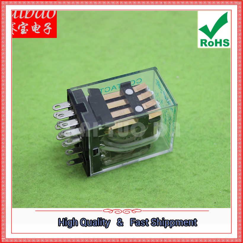HH54P небольшое реле 220 v AC 12 v MY4NJ промежуточное реле (H4B4)