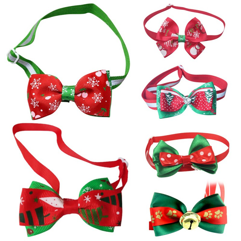 High Quality Christmas Gift Dog Cat Bow Ties Bowtie Dog Neckties Holiday Pet Wedding Decoration Dog Grooming Accessories