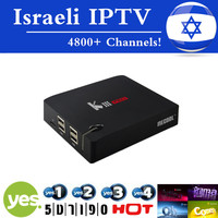 Israeli IPTV Hebrew GOTiT KIII PRO TV Box Amlogic S912 Octa Core DVB T2 S2 Android