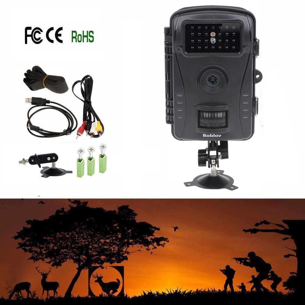 Free Shipping Boblov RD1003 8MP PIR Night Vision IR Game Hunting font b Trail b font