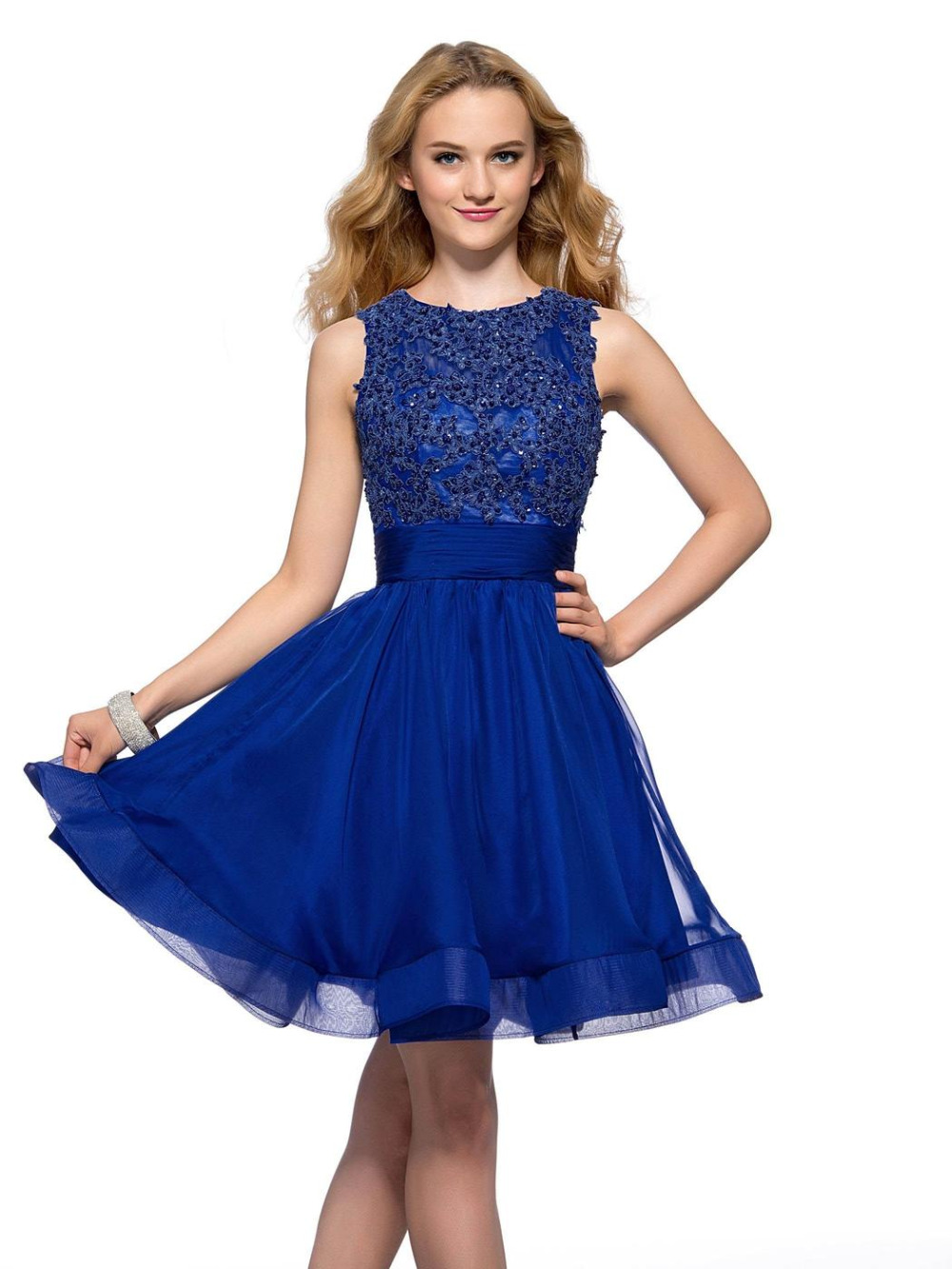 Royal Blue Short Prom Dress - Ocodea.com
