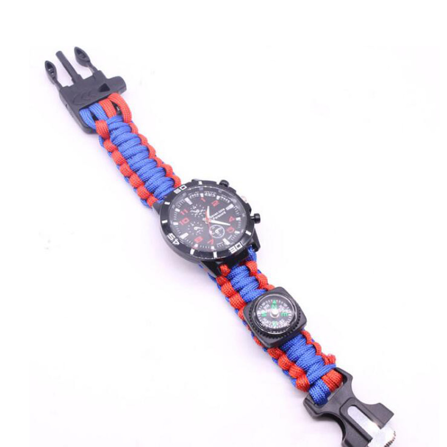 Military Outdoor Paracord Survival Bracelet Compass (12)