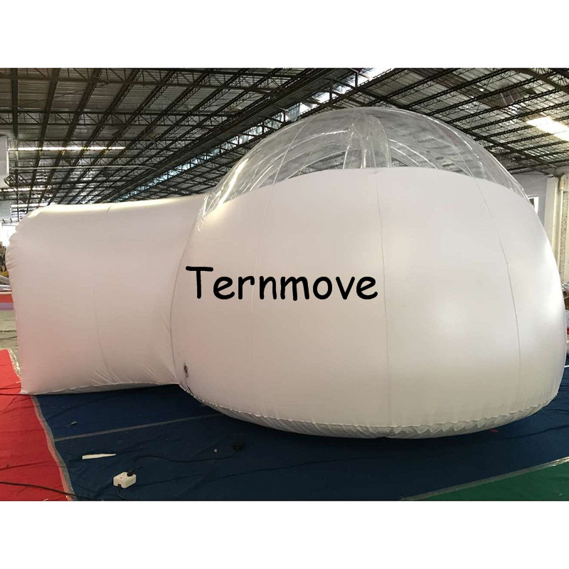 inflatable Backyard Tent,Giant Outdoor Single Tunnel Inflatable Bubble Tent Family Camping ,inflatable airtight hiking tents black inflatable tunnel 4 4 3m tunnel tent stage tent for children giant inflatable stage cover for sale toys tents