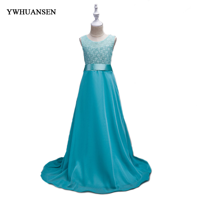 YWHUANSEN Lace Tube Top Girl Party Dress Long Evening Dresses For Girls At The Prom In Kindergarten Birthday Dress Robe Fillette mona al smadi integrating children s literature at the kindergarten stage