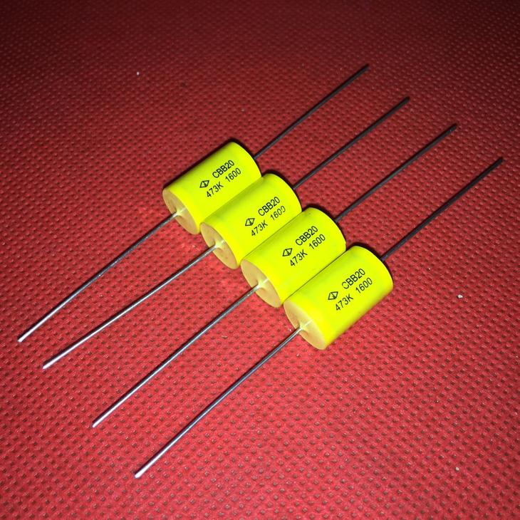 Original New 100% Import Fala Capacitance CBB20 0.047UF1600VDC 473K Axial Non Inductive Absorption Capacitor (Inductor)