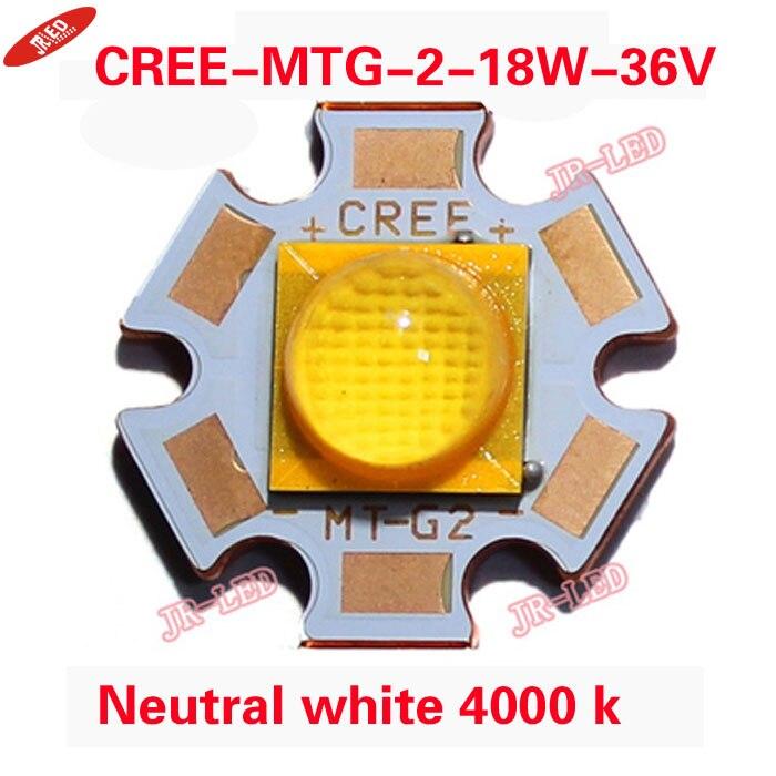 Yeniləmə 1PCS Cree XLamp MTG-2 MTG2 18W 36V 36 v işıqlar Neytral - LED işıqlandırma - Fotoqrafiya 4