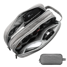 hot deal buy jilida double layer cable digital storage bag electronic accessories organizer portable travel bag for hdd usb earphone devices