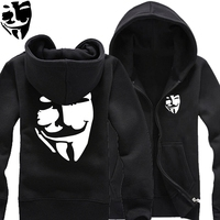 Neue 2017 kostenloser versand drucken maske hut muster warme herbst winter V Wie Vendetta logo freiheit für immer Hugo mann strickjacke
