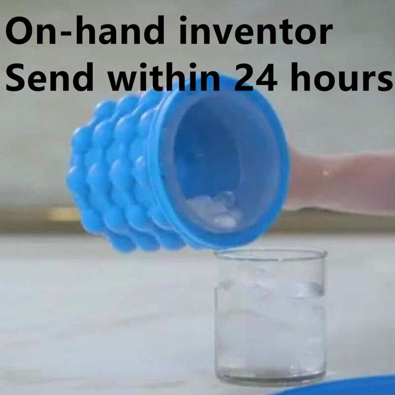 Envío Gratis revolucionaria ahorradora de espacio fabricadora de cubos de hielo Genie Ice genie