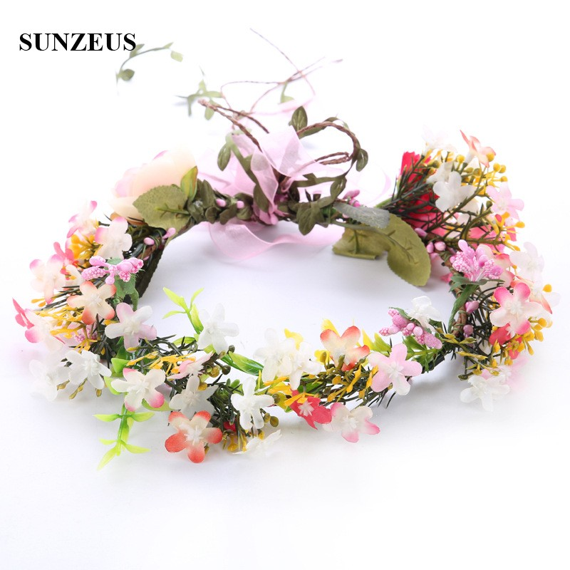 2018 New Bridal Garland For Wedding Party Hand-made Flower Headband For Brides Free Shipping SQ302