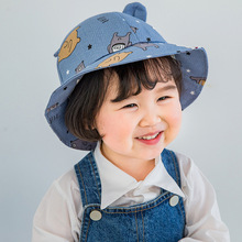 Cute Baby Hat for Girls Cartoon Baby Boy Hat with Ears Spring Autumn Children Cap Cotton Kids Hats Toddler Baby Muts все цены