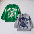 free shipping baby unisex O-neck  hoody sweater wholesale and retail 2015 autumn and winter kids' clothing hot sales