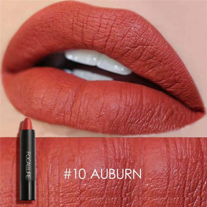 High Quality Focallure Women Matte Lipstick Pen Waterproof Long-lasting Cosmetic Nude Lady Lips Makeup Lipsticks well 17