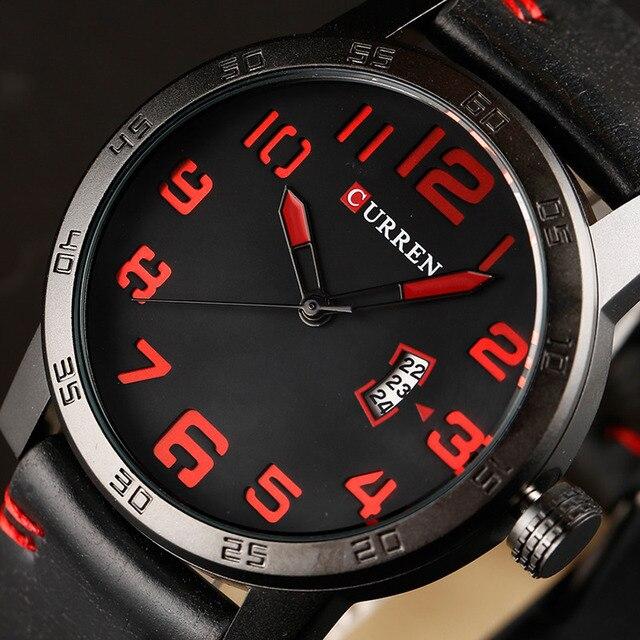 Curren 2017 мужские часы relogio masculino luxury военные наручные часы мода повседневная quartzwatch водонепроницаемость календарь 8254