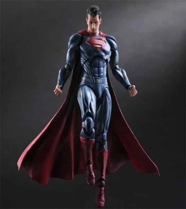 Play Arts Kai Super Man Figure DC Figure Superman Clark Kent Batman SuperGIRL PA 25cm PVC Action Figure Doll Toys Gift super street fighter iv akuma gouki white variant play arts kai action figure