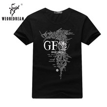2018 New Mens Summer Tops Tees Short Sleeve t shirt Man Plus Size Start Printed Cotton t-shirt Men Brand Clothing 4XL 5XL 6XL(China)
