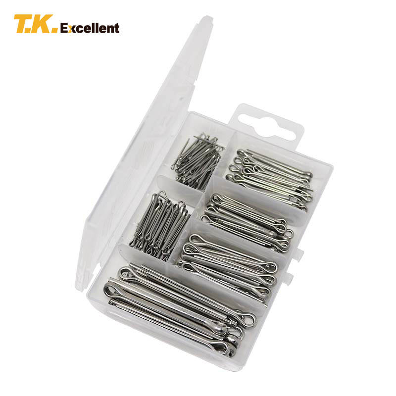 T.K.EXCELLENT 230PCS Cotter Pin 5.0*50 4.0*35 3.0*30 2.0*20 2.5*25 1.0*16 Stainless Steel Hardware Assortment Box Cotter Pin Set