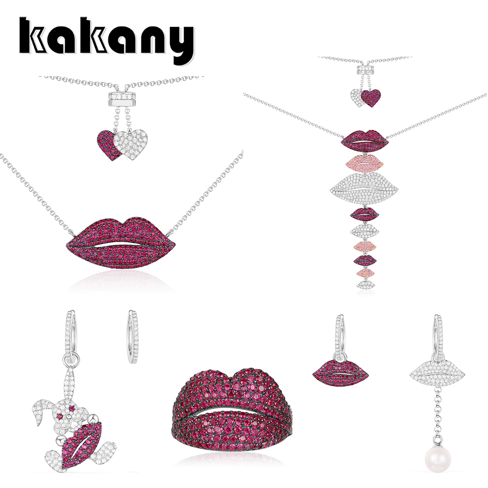 KAKANY original 1:1 high quality 925 sterling silver Moroccan classic red lips series European womens fashion accessoriesKAKANY original 1:1 high quality 925 sterling silver Moroccan classic red lips series European womens fashion accessories