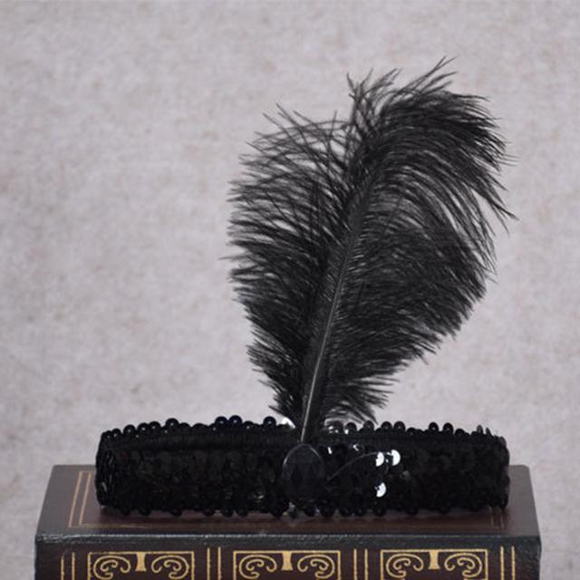 Feather Headbands Flapper Sequin Charleston Dress Accessories Costume Hairband Headpiece Women