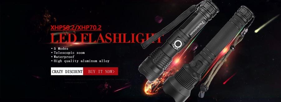 10000Lm Scheinwerfer USB LED Scheinwerfer mit Motion Sensor Camping Taschenlampe