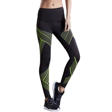2017 striped sports leggings women running tights skinny fitness ladies yoga pants compression jogging training tights trousers