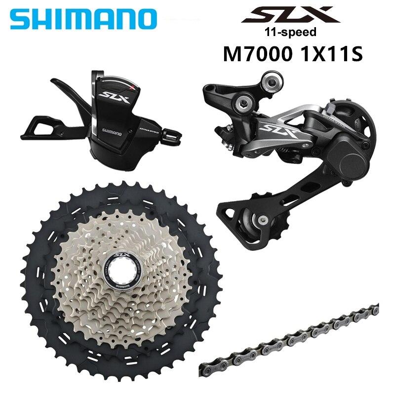 Le groupe SHIMANO SLX M7000 1x11 11 S vitesse 11-40/42/46 T contient levier de vitesse et déarilleur arrière et Cassette et chaîne