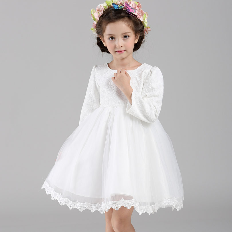 pink white baby girl dresses winter autumn fashion design
