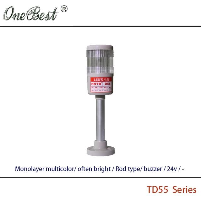 Free Shipping HNTD 24V LED Indicator Light  Monolayer Multicolor Rod Type Often Bright Buzzer 12V Warning Lamp 36V Flashing