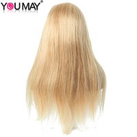 Blonde Wig Colorful 250% Density Straight Lace Front Wigs With Baby Hair #27 Brazilian Virgin Human Hair Wigs You May