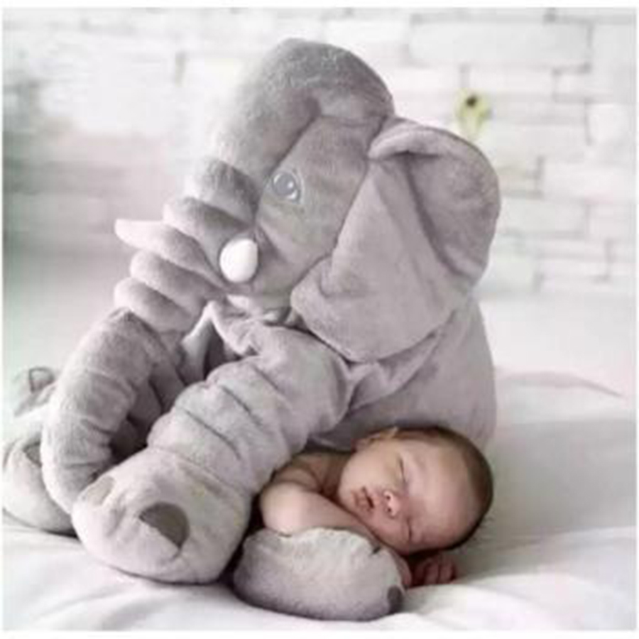 30cm Elephant Cushion Large Plush Stuffed Toys Pillow Baby Sleeping Soft Cushion Children Gifts Room Bed Decoration Toys 20F0614