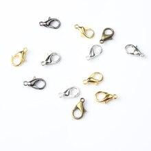 LanLi 100/pcs multicolor lobster clasps 10/12/14/16mm DIY Men and women's bracelet necklace ankle ch
