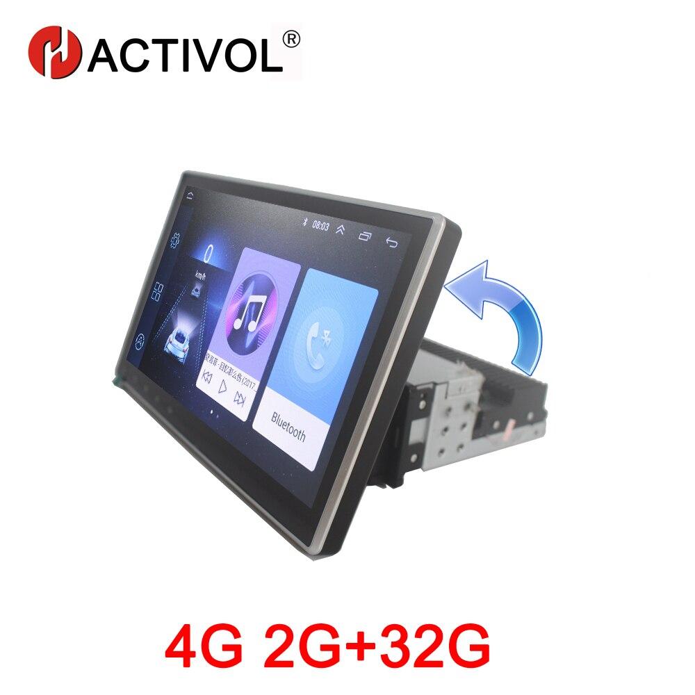 HACTIVOL rotatif 2G + 32G Android 8.1 autoradio stéréo pour voiture universel lecteur dvd gps navigation bluetooth wifi voiture accessoire