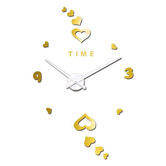 Zeit Buchstaben Arabischen Digitalen Herz Wanduhr Luxus Kunst Uhr ...