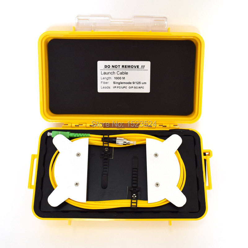 Optical Mini FC UPC SM 9//125um 1310//1550nm 1KM Bare Fiber OTDR Launch Cable Box