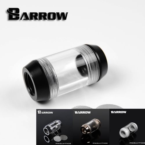 Barrow G1 / 4 White Black  water cooling system dedicated dual spiral pattern filters connector computer water cooler fitting barrow g1 4 female to female extender 15mm pc water cooling system water cooling fitting tbzt a15