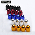DSYCAR 16Pcs/lot Universal Bullet Bike Motorcycle Car Tire Wheel US Valve Cap Cover Car styling For Audi Ford Bmw toyota VW Lada