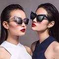 2017 Occident Cat Eye Sunglasses Mujeres Diseñador de la Marca Mujeres Gafas de Sol para Las Mujeres Nuevo 2016 Estilo Gradiente Oculos Luneta R332